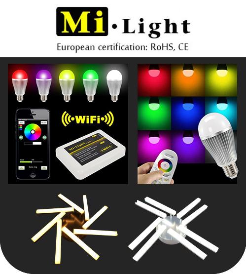 Светодиодные лампы и светильники с системой управления Mi-Light
